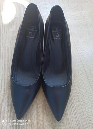 Туфли лодочки кожаные4 фото