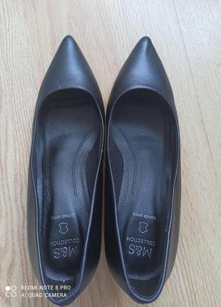Туфли лодочки кожаные5 фото