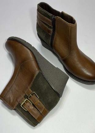 Ботильоны кожаные sensitive sole, 39р. 25,5 см, сост. идеальное!