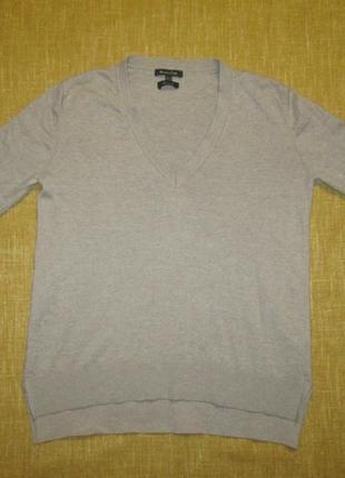 Шелковая шерстяная кофта massimo dutti пуловер лонгслив 43% шерсть 57% шелк
