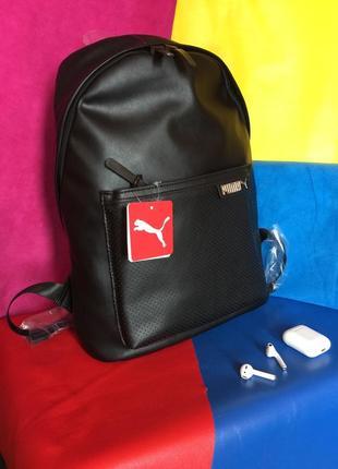 Крутейший рюкзак  из экокожи  puma ! оригинал ! качество просто идеальное !