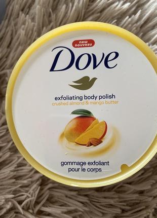 Скраб для тела dove масло манго 🥭 и измельчённый миндаль