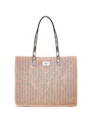 Плетёная сумка victoria's secret tote2 фото