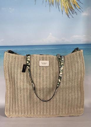 Плетёная сумка victoria's secret tote1 фото