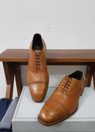 Мужские кожаные туфли ручной работы bruno magli 42 a.testoni bally