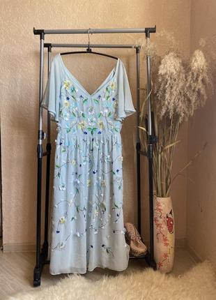 Нарядное эксклюзивное платье 18 р