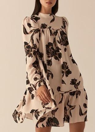 Бежевое кэжуал платье бэби долл love republic с абстрактным узором