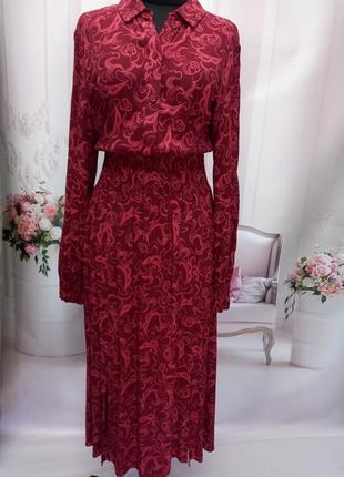 Красивое вискозное платье миди
