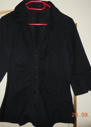 Блуза х/б чёрная