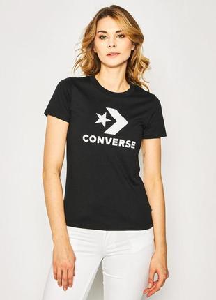 Converse чёрная футболка