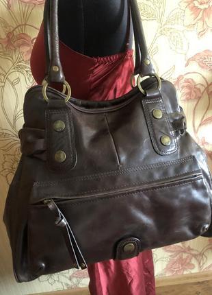 Большая роскошная кожаная сумка, натуральная кожа ri2k