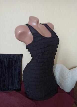 Коктейльное платье чёрное, платье atmosphere black