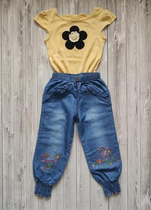 Комплект штанишки бананы и футболочка gymboree 3t для девочки 3-4 лет