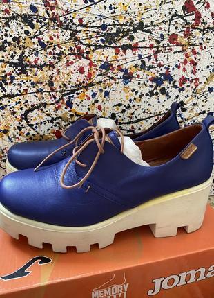 Туфли кожаные на каблуке🤩