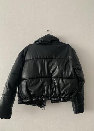Кожаная куртка bershka3 фото