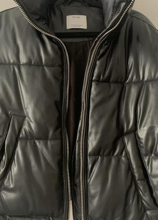 Кожаная куртка bershka2 фото