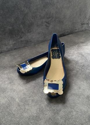 Силиконовые резиновые туфли балетки лодочки vivienne westwood