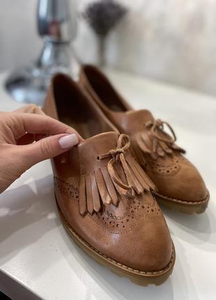 Новые кожаные топсайдеры лоферы туфли кожа