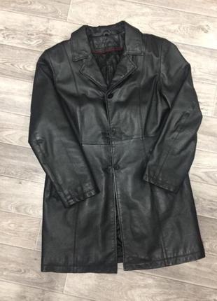 Кожаное пальто / кожаный плащ