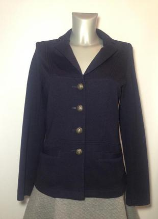 Стильный синий пиджак жакет