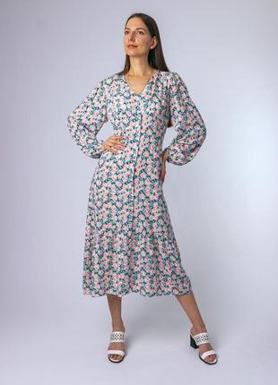 Невероятное женственное платье миди вискоза турция