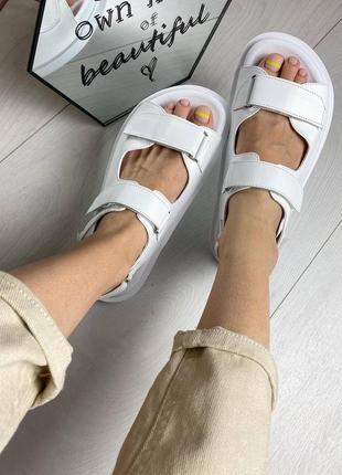 Wow 🤩  хит сезона, женские кожаные сандалии на липучках 1002