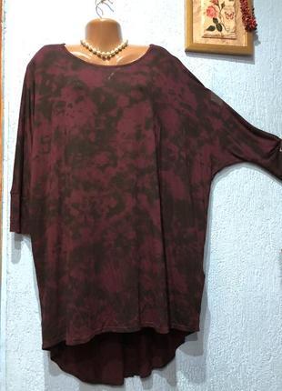 Туніка батал,подовжена легка блуза yours