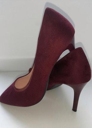 Туфли лодочки винного цвета 38 размер