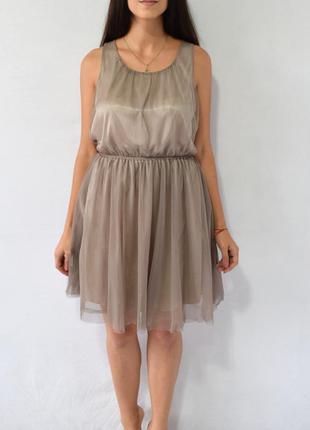 Платье с фатином h&m