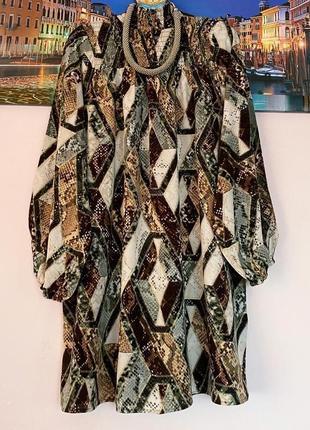 Натуральное стильное платье1 фото