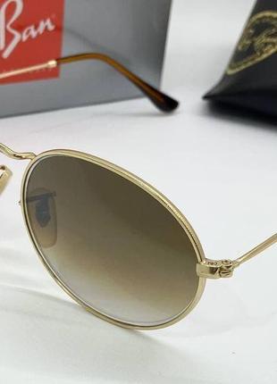 Ray ban очки женское солнцезащитные коричневые овалы с линзами минеральное стекло