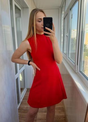 Красное мини платье  prettylittlething