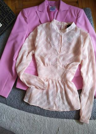 Нереально красивая нежная блуза блузка топ полупрозрачная от forever 21