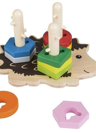 Развивающий игровой набор головоломка-сортер ежик playtive.