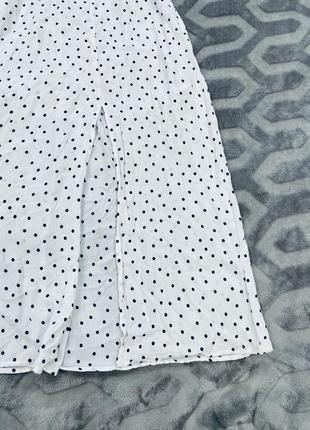 Белое платье в горох миди вискоза zara3 фото