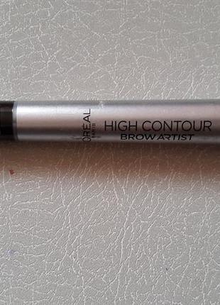 Двойной карандаш- хайлайтер для бровей high controur brow artist loreal