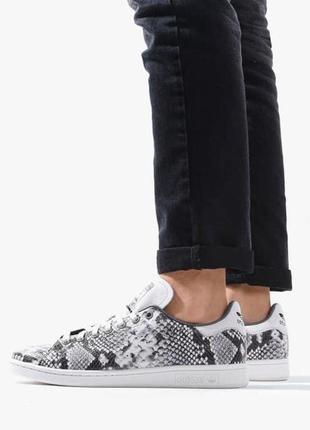 """Мужские кроссовки adidas stan smith white grey """"snakeskin""""43-44p"""