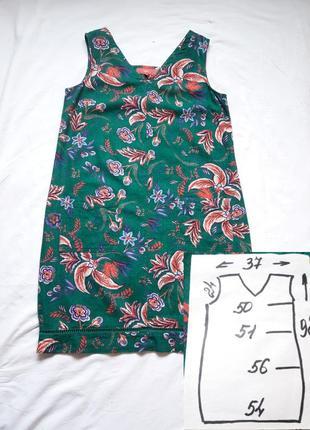Красивое платье в цветочный принт ,лен,2 фото