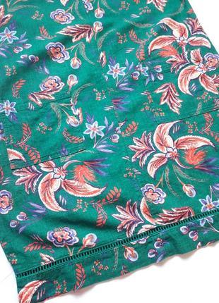 Красивое платье в цветочный принт ,лен,7 фото