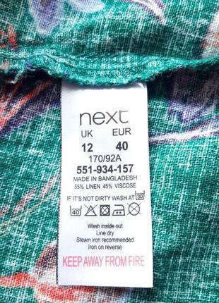 Красивое платье в цветочный принт ,лен,6 фото
