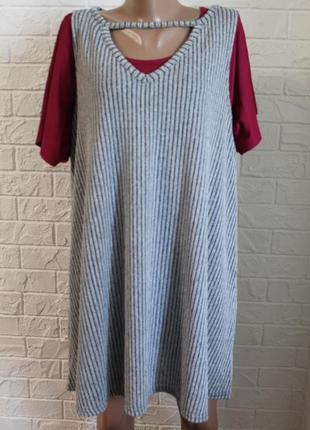 Платье туника на футболку atmosphere в идеальном состоянии 4xl