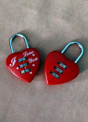 Кодовый замок сердце, колодка