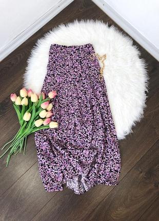 Шикарная юбка миди в цветы h&m
