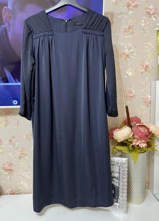 Сатиновое сводное прямое платье миди cos1+1=3