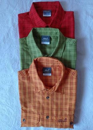 Рубашка jack wolfskin m-xl оригинал , трекинговая, шведка