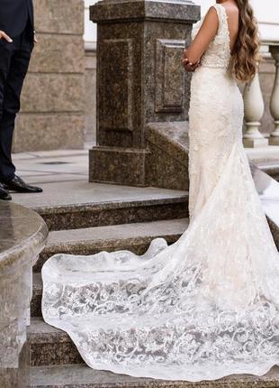 Lorenzo rossi свадебное платье milla nova вечерние платье-рыбка выпускное платье рыбка