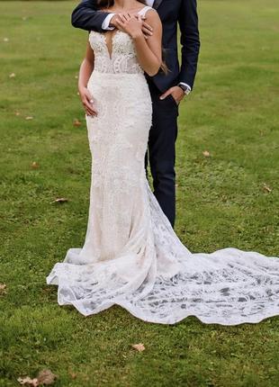 Lorenzo rossi свадебное платье milla nova вечерние платье-рыбка выпускное платье рыбка2 фото