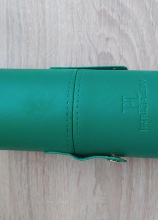 Набор кистей для макияжа patricia ledo malachite 7 шт кисти в тубусе3 фото
