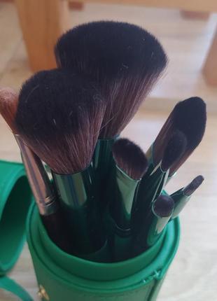 Набор кистей для макияжа patricia ledo malachite 7 шт кисти в тубусе4 фото