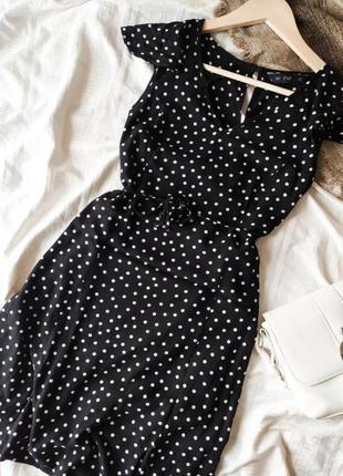 Дуже мила міні-сукня з пояском в горошок від f&f2 фото